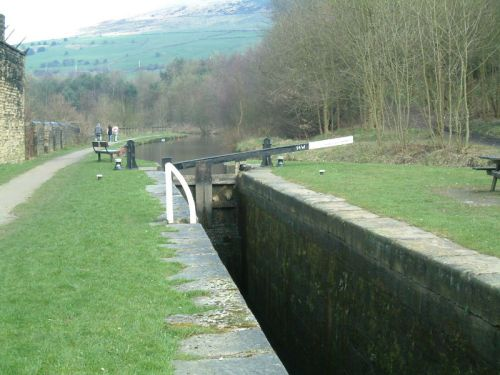 Canal at Mossley, Greater Manchester