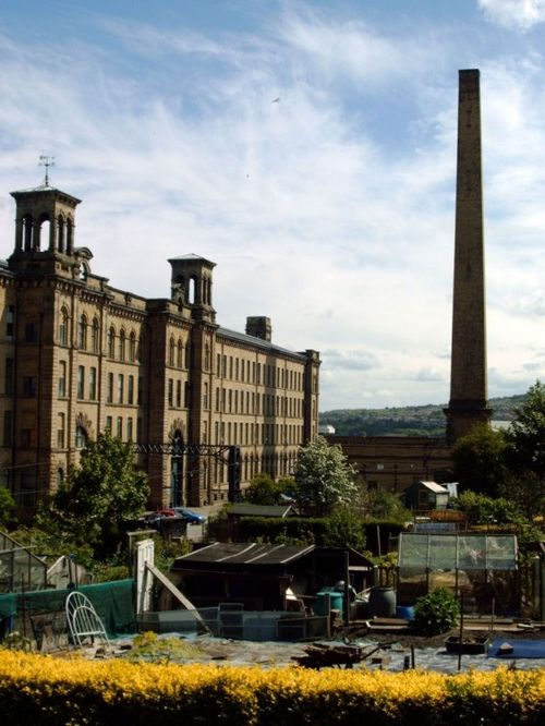 Salt's Mill, Saltaire. Refurbished mills today contain retail outlets and a David Hockney Gallery.