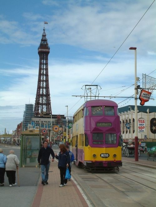 Blackpool Tower and Tram, Blackpool, Lancashire
