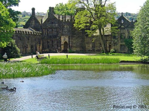 Front view of East Riddlesden Hall, Keighley, West Yorkshire
