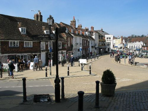 The town square in the town of Battle, East Sussex