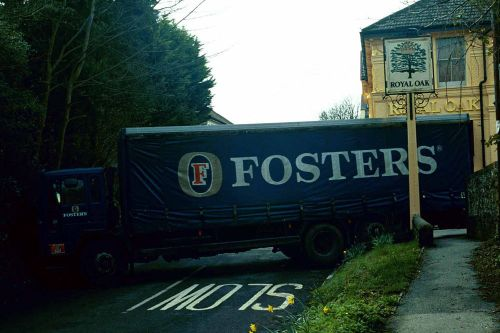 Too Much Amber Nectar (Lorry Got stuck) Royal Oak, Poynings, West Sussex