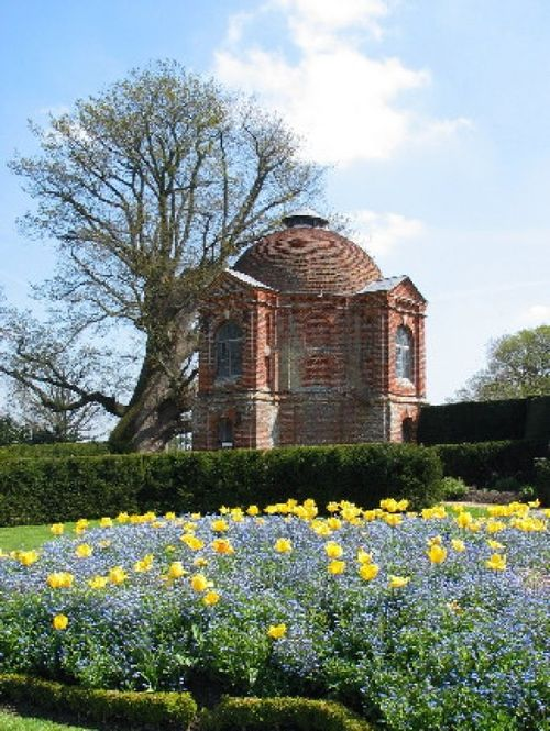 Water Tower and Flowers at The Vyne