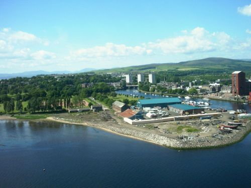 A view of Dumbarton from the Castle