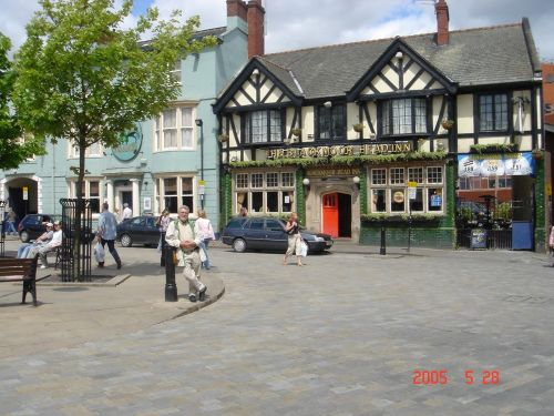 Town Square in Pontefract, West Yorkshire