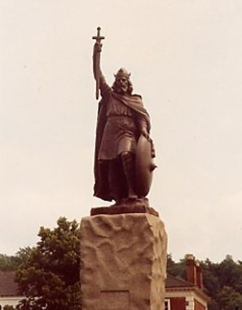 A statue of King Alfred, Winchester, Hampshire