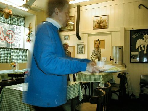 A gentleman asked for a copy of this after I took it.  Here it is!  (Holmfirth Cafe)