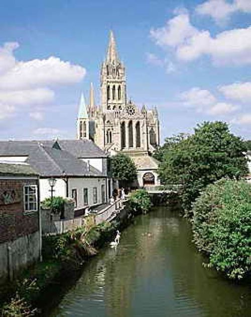 Truro, Cornwall. Truro Cathedral from the river