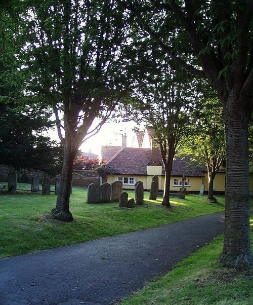 St Marys Church Entrance. Baldock, Hertfordshire