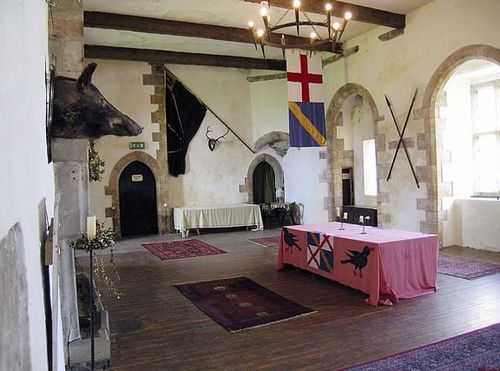 Castle Bolton, - Yorkshire Dales, England. Hall in Castle. Taken during my honeymoon in Sept. 2004.