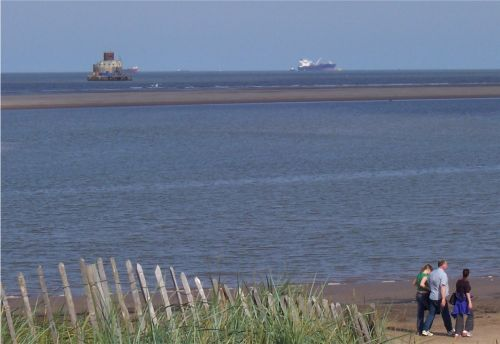 Haile Sand Fort, mouth for the River Humber off Humberston, Cleethorpes