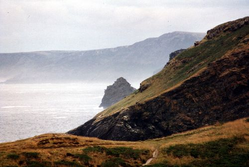 Cliffs at Tintagel, Cornwall