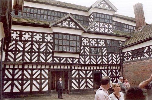 Inner courtyard of Little Moreton Hall, cheshire