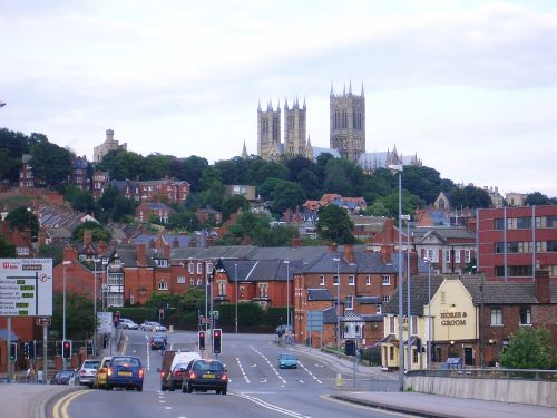 The Cathedral on the hill at Lincoln. It can be seen for some 20 miles in most directions.