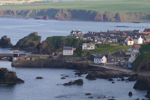 St Abbs, on the eastern Scottish Borders, Scotland