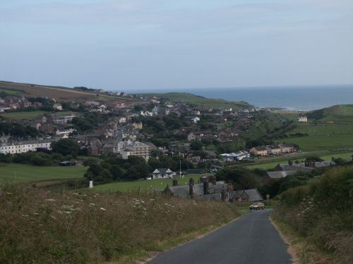 St Bees, Cumbria, as seen from outrigg