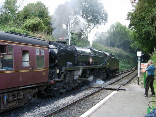 The Watercressline station Steam gala sept 2005