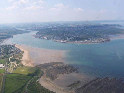 The beautifuly Taw and Torridge Estuary in North Devon showing Appledore and Instow opposite