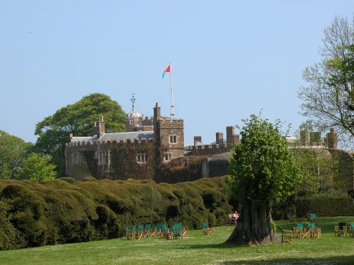 Walmer castle, a picture taken from within the garden