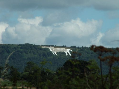 The White Horse at Kilburn. North Yorkshire.