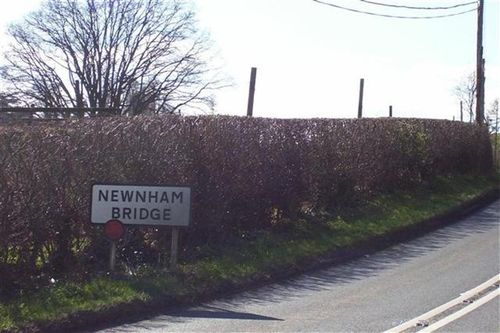 Village border sign from my Dad's gate. First house in the village. Newnham Bridge, Worcestershire