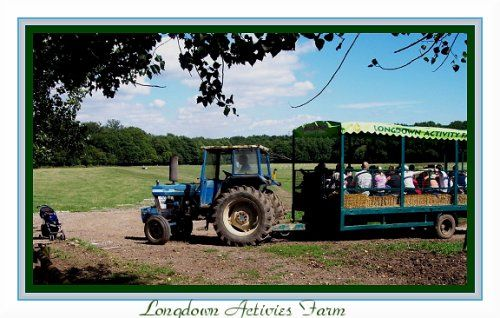 A Jolly ride at Longdown Activity Farm, New Forest, Hampshire.