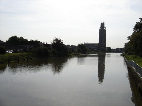 River Witham with the Boston stump in background.