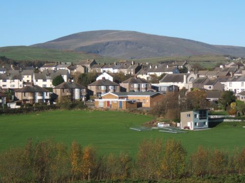 Holborn Hill, Millom, Cumbria.  Black Combe in the background.