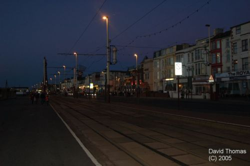 Picture of Blackpool Main Promenade at Night in Nov 05.