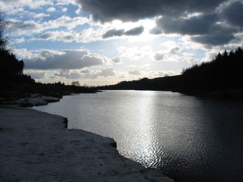 Cod Beck Reservoir near Osmotherley. North York Moors.