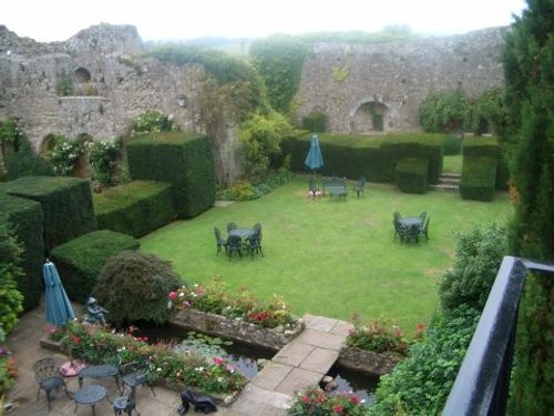 view of the courtyard, Amberley Castle