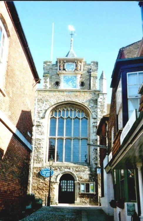 St. Mary's Church with its wonderful clock, in Rye, East Sussex