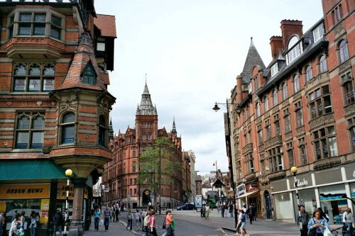 King Street, Nottingham - view from Market Square, May 2005