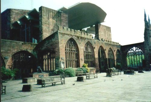 Old and New Cathedral in Coventry