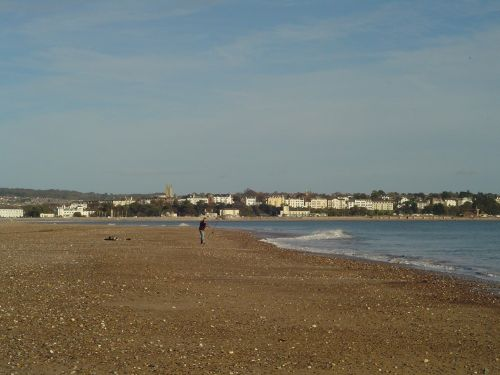 Dawlish Warren, Devon.  Looking towards Exmouth.