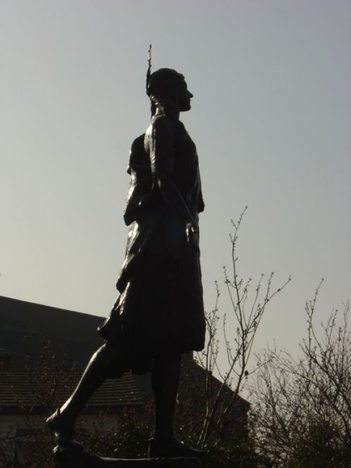 Statue of Pocahontas at St. George's Church, Gravesend.