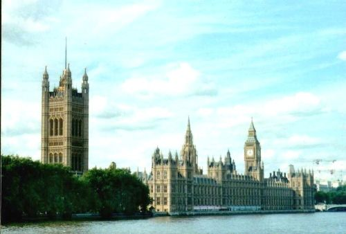 London - Houses of Parliament, view from Lambeth Bridge, Sept 2002