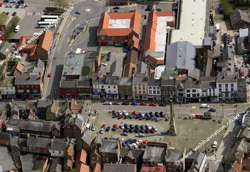 An Ariel photo of Ripon Town centre