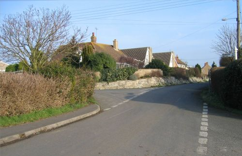 The Junction of Gaunts Road and Pound Road, Pawlett, Somerset.