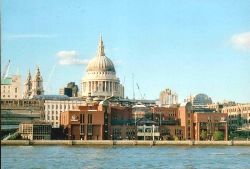 London - St Paul`s Cathedral, view from South Bank, Sept 2002