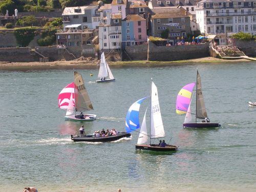 Sailboats at Salcombe, Devon - June 2005