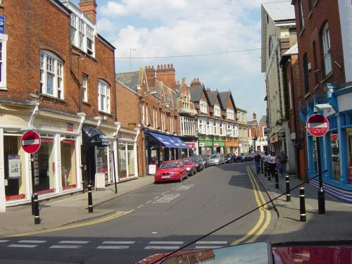Rugby, Warwickshire. Bank Street looking east from Regent Street May 2005