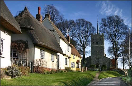 Wendens Ambo, a picturesque village in Essex