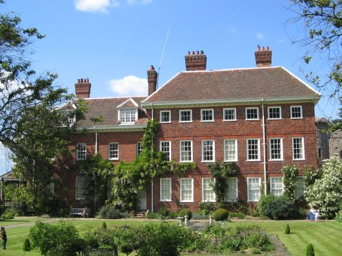 This is a photo taken last summer of the side view of Benington Lordship house and its Rose Garden.