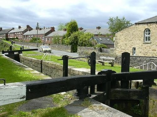 Lock gate, Marple canal