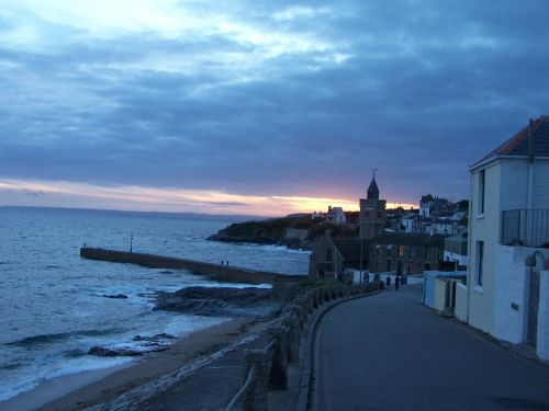 Porthleven, Cornwall. Looking towards the harbour mouth from the east