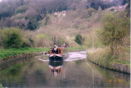 Kennet and Avon canal near the Dundas aqueduct
