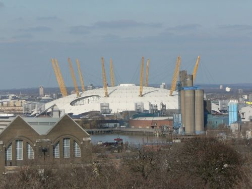 The Millennium Dome from Observatory Hill