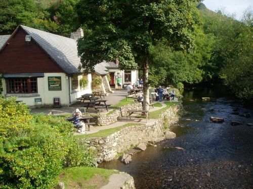 The Anglers Rest Pub, at Fingle Bridge, Drewsteignton, Devon.