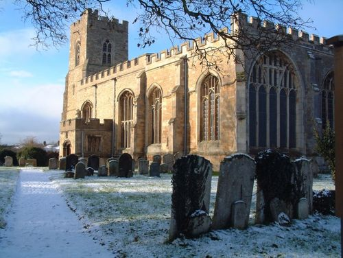 The Church of St Lawrence at Willington, Bedfordshire - Taken on 27-12-05